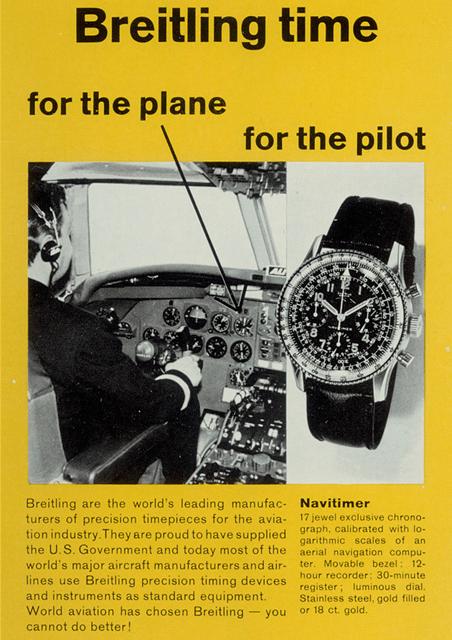 breitling flight ad - Breitling