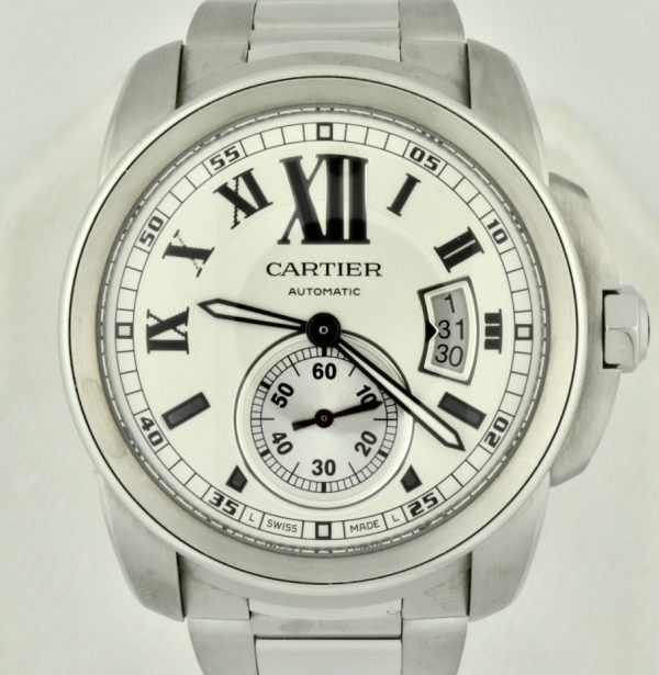 cartier calibre stainless steel for sale