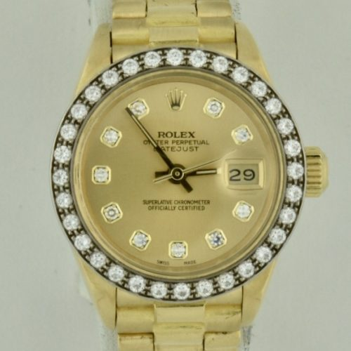 IMG 8816 2 500x500 - Ladies Rolex President 26mm