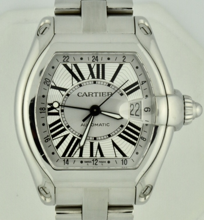 8d69a1c306d Men s Cartier Roadster XL GMT Stainless Steel Watch W62032X6