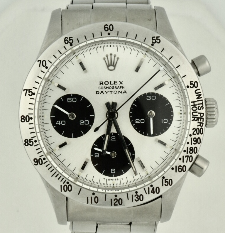 3322f3e6771 Rolex Cosmograph Daytona 6239 Stainless Steel Silver Dial Vintage 1967