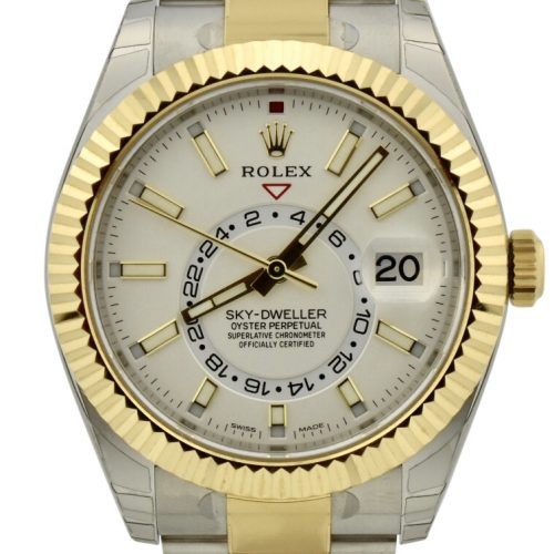 Rolex sky dweller white dial for sale
