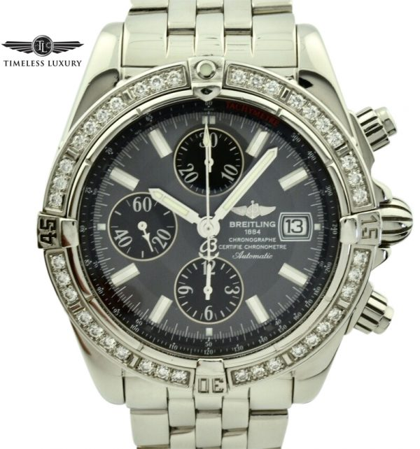 breitling chronomat gray diamond