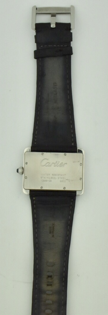 cartier tank divan case back