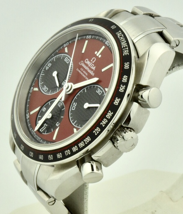 omega speedmaster red racing side