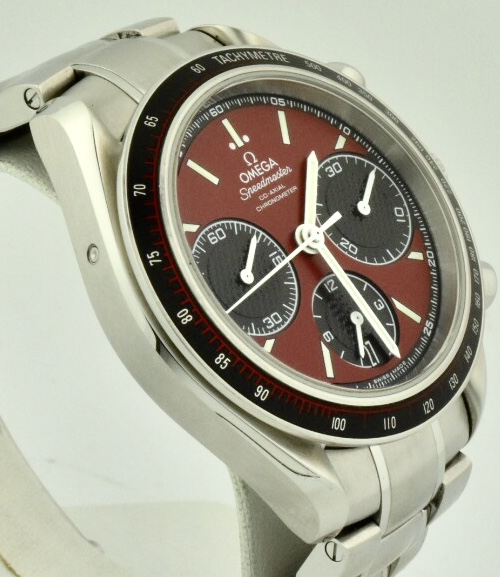 omega speedmaster red dial side