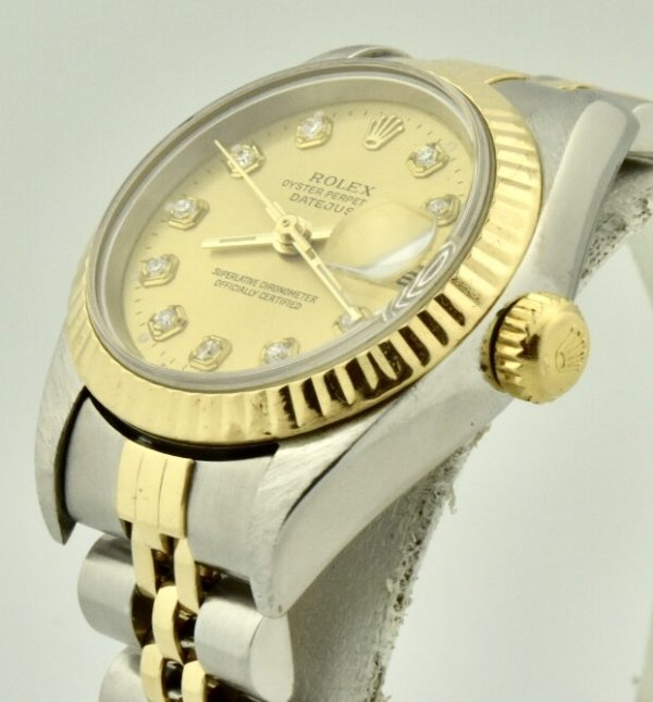 rolex datejust 26mm side