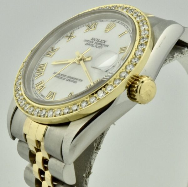 rolex datejust midsize side