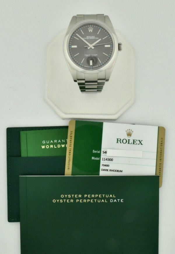 rolex 114300 rhodium dial