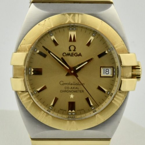 Omega Constellation Co-axial double eagle steel & gold