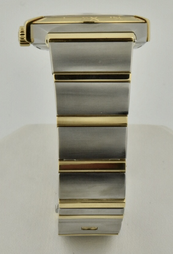 omega constellation band steel & gold