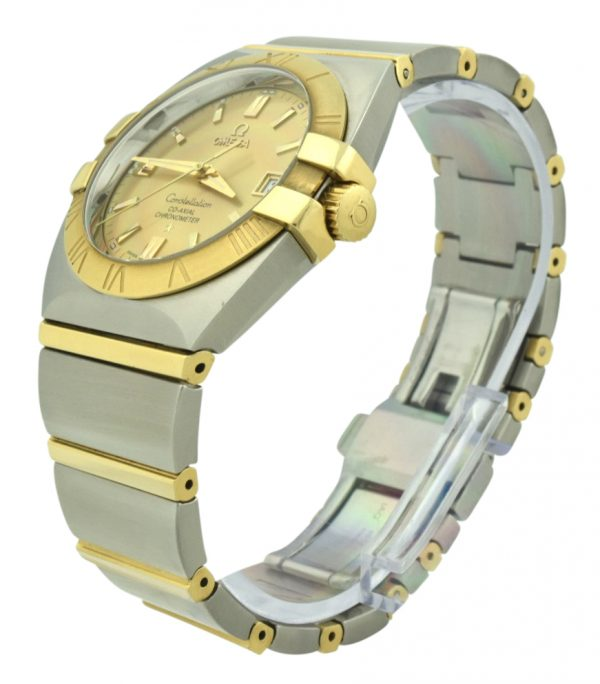 omega constellation double eagle steel & gold