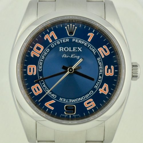 rolex air king 114200 blue California dial