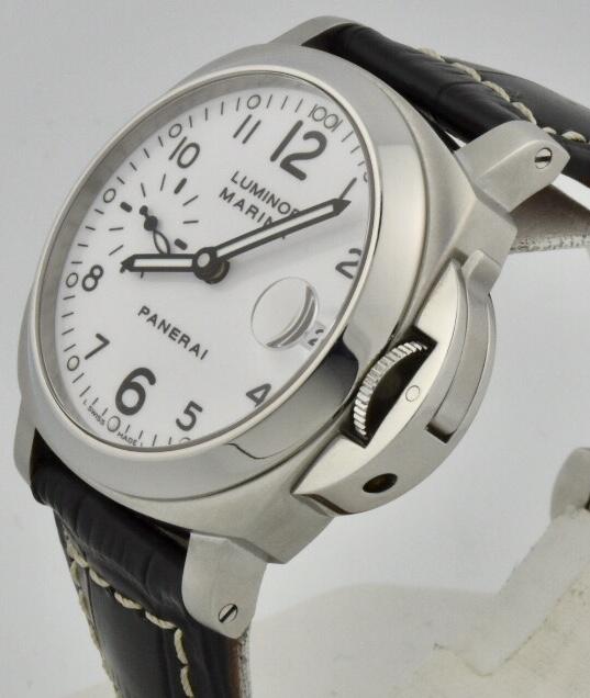 panerai luminor marina 40mm white dial