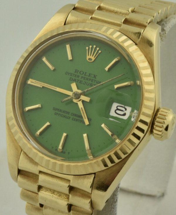Rolex President Green Stella Dial 6917