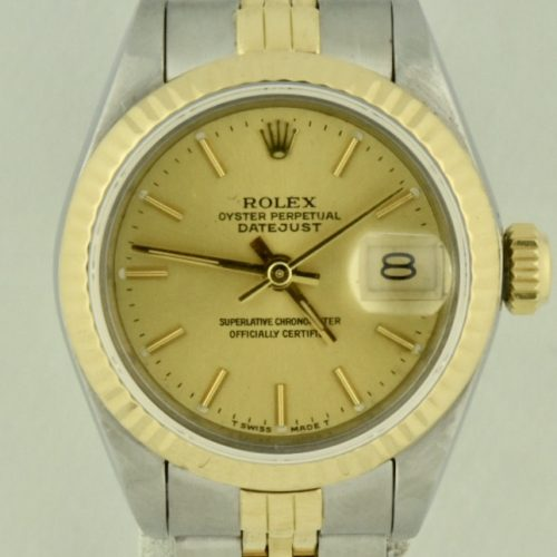 Rolex datejust 69173 steel & gold