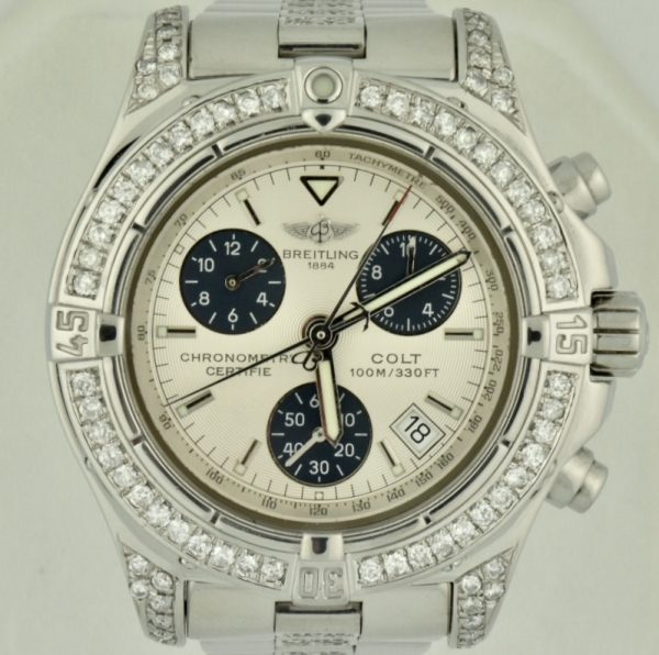 Breitling Colt Chronograph a73380 Diamond watch