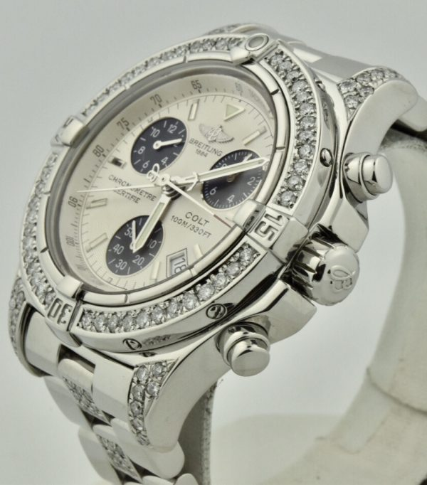 breitling colt with diamonds for sale