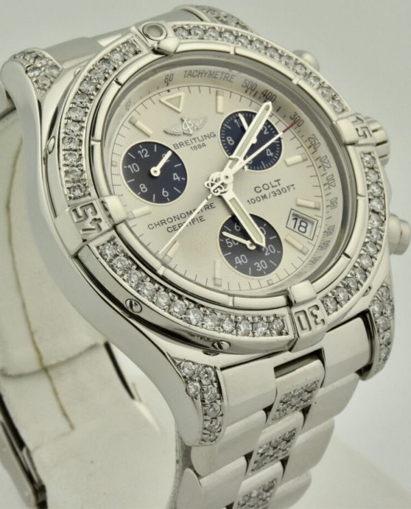 breitling colt a77380 diamond watch