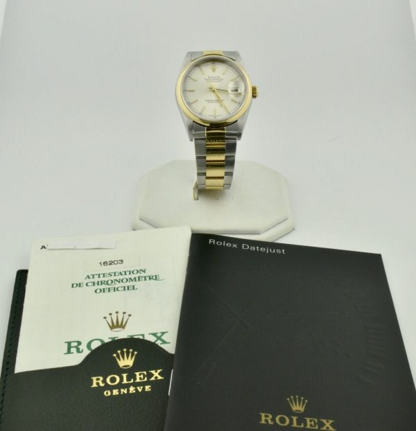 rolex datejust 16203 steel & gold for sale