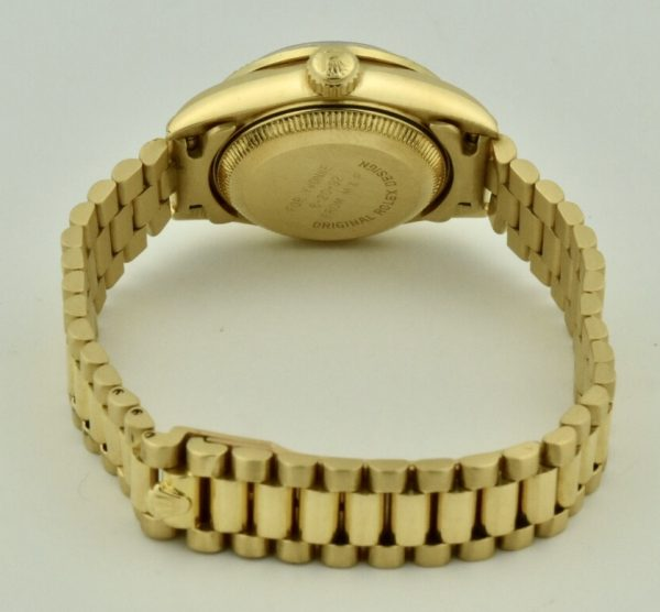 ladies rolex president case back