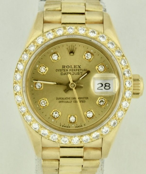 rolex 69178 president diamond bezel