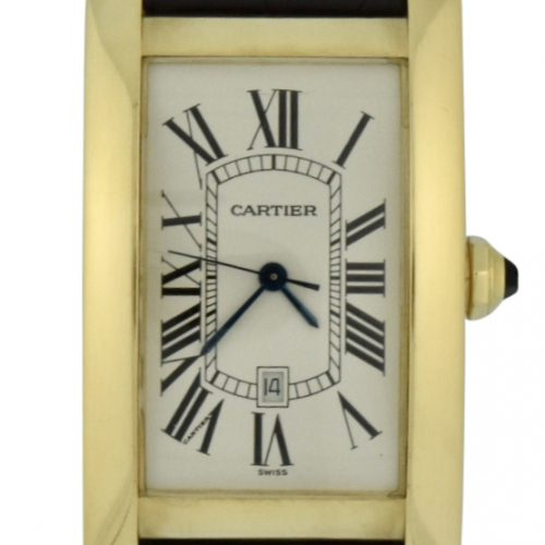 mens Cartier tank américaine 18k gold