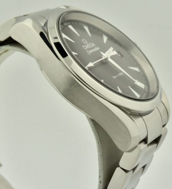 omega seamaster quartz grey dial watch for sale