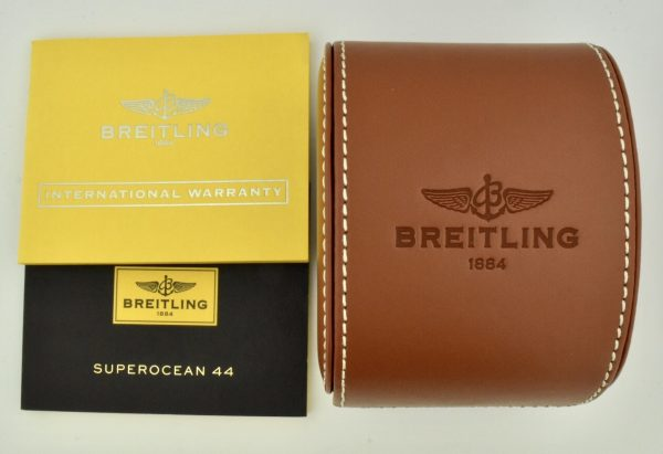 breitling superocean box and books
