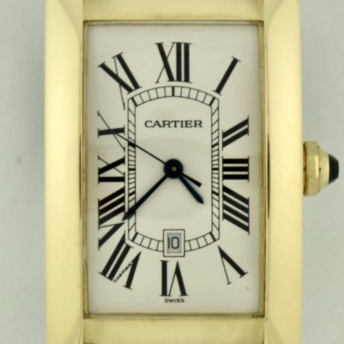 Cartier Tank américaine 18k gold automatic w2603156