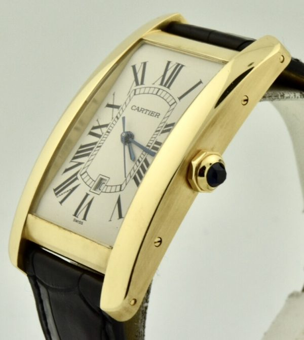 cartier tank américaine automatic gold