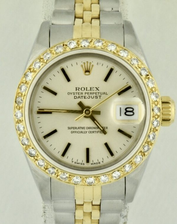 Ladies Rolex Datejust Diamond Bezel For Sale