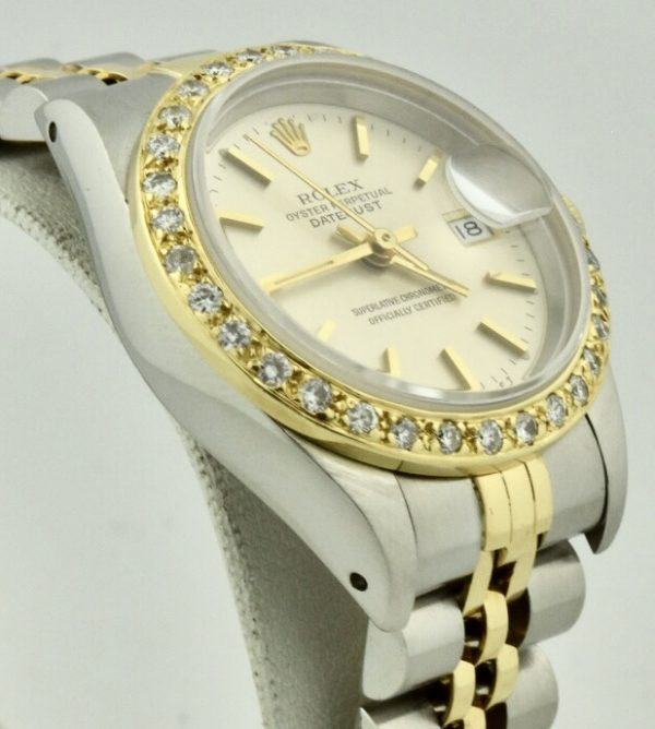 lady rolex datejust 69173 side