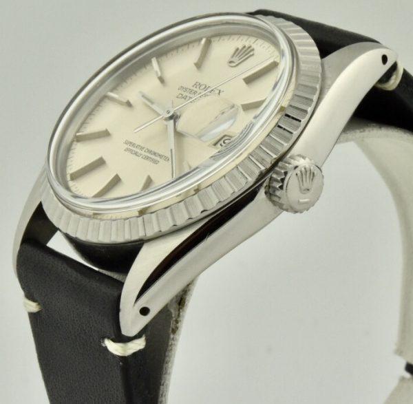 rolex datejust 16030 silver dial case