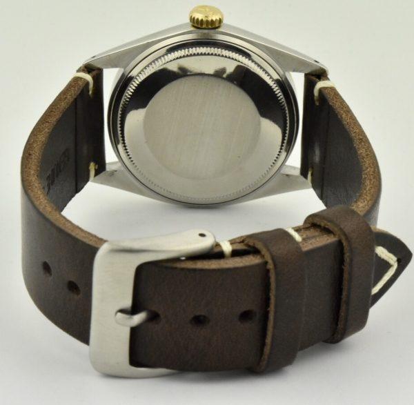rolex datejust 1601 vintage leather strap