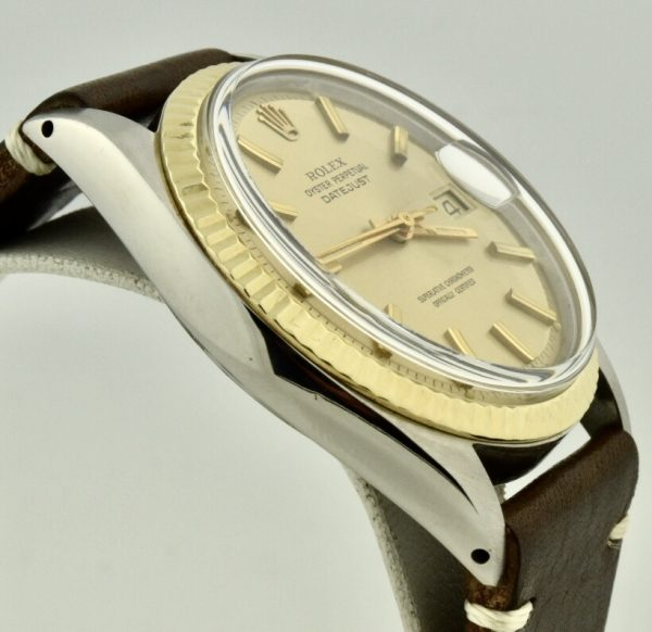 rolex datejust 1601 steel and gold