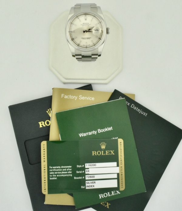 rolex datejust 116200 oyster for sale