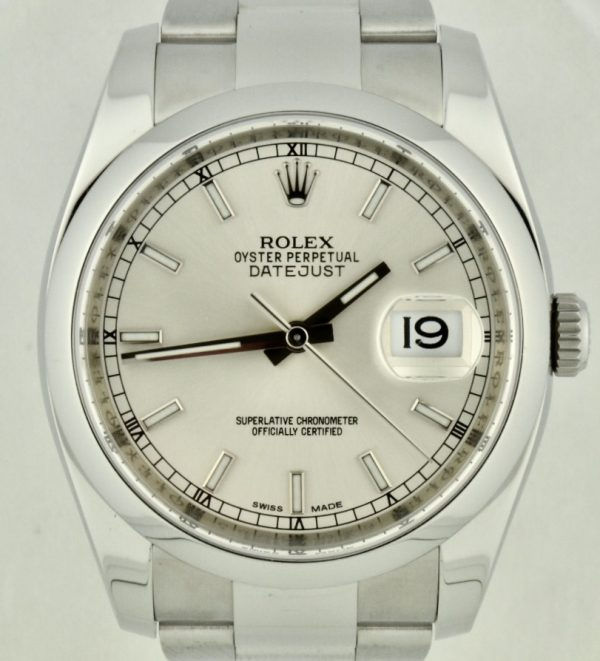 Rolex Datejust 116200 silver dial for sale atlanta