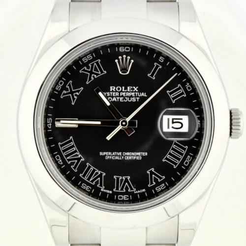 rolex datejust ii 116300 black dial for sale atlanta
