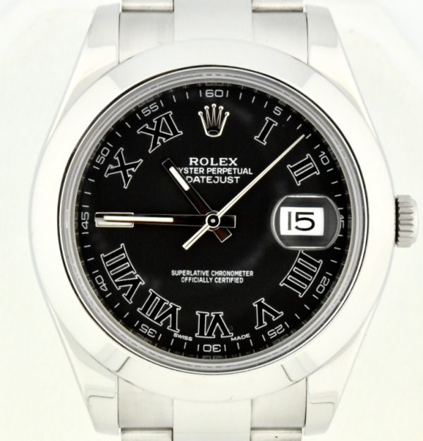 rolex datejust ii 116300 black dial for sale atlanta