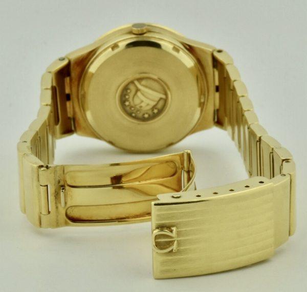 omega constellation quartz case gold