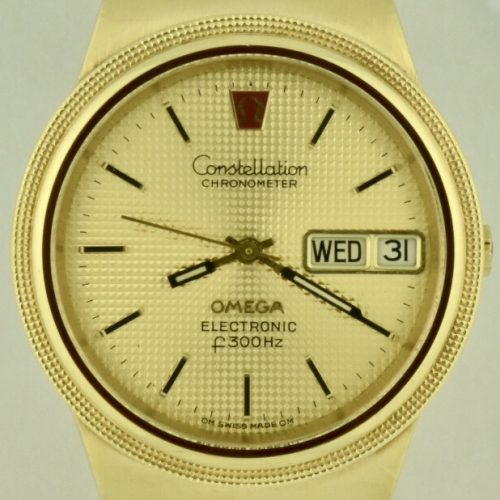 Omega constellation f300hz electronic 18k gold quartz watch for sale