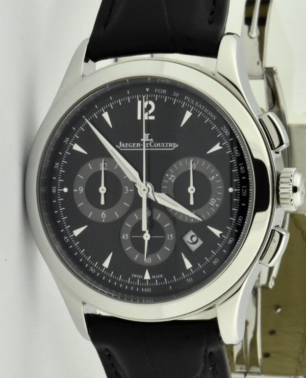 jaeger lecoultre master chronograph q1538470 black dial for sale