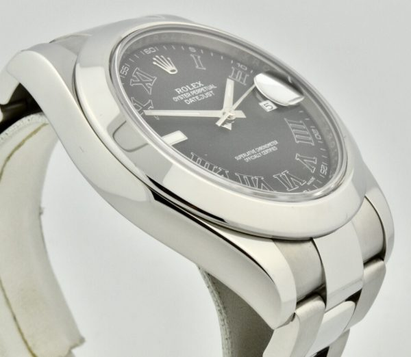 rolex datejust ii 116300 side