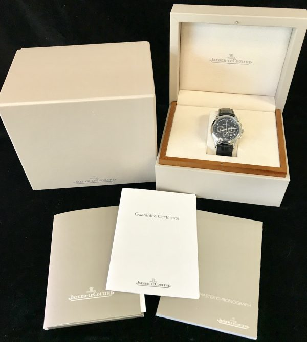 jaeger lecoultre master chronograph black dial for sale