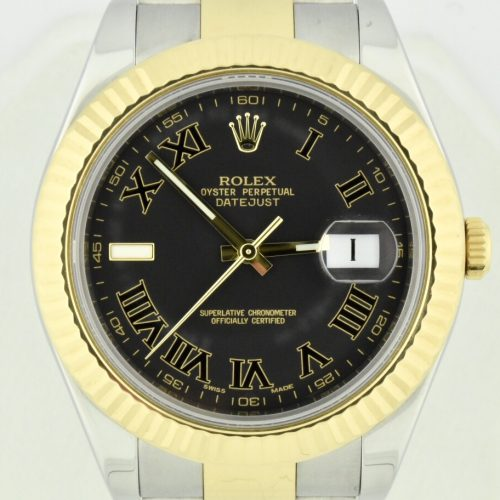 Rolex Datejust II 116333 charcoal diall