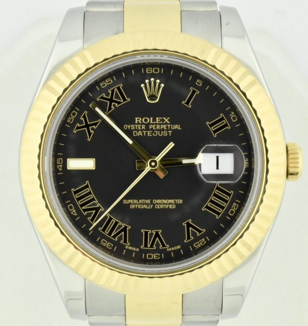 Rolex Datejust II 116333 charcoal diall