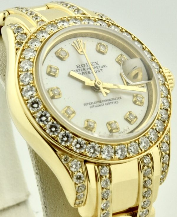 rolex pearlmaster 18k yellow gold diamonds for sale