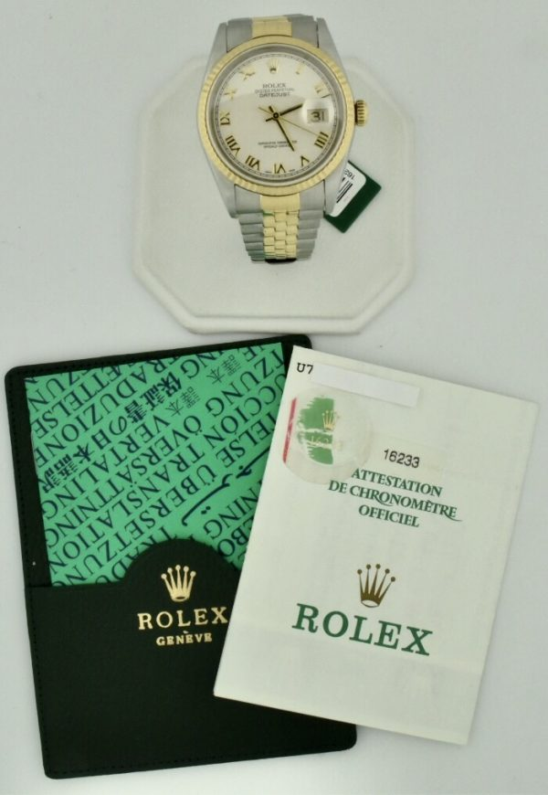 1997 rolex datejust 16233 pyramid dial for sale atlanta