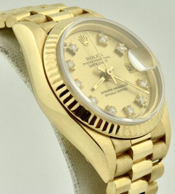 ladies rolex president 69178 diamond dial for sale